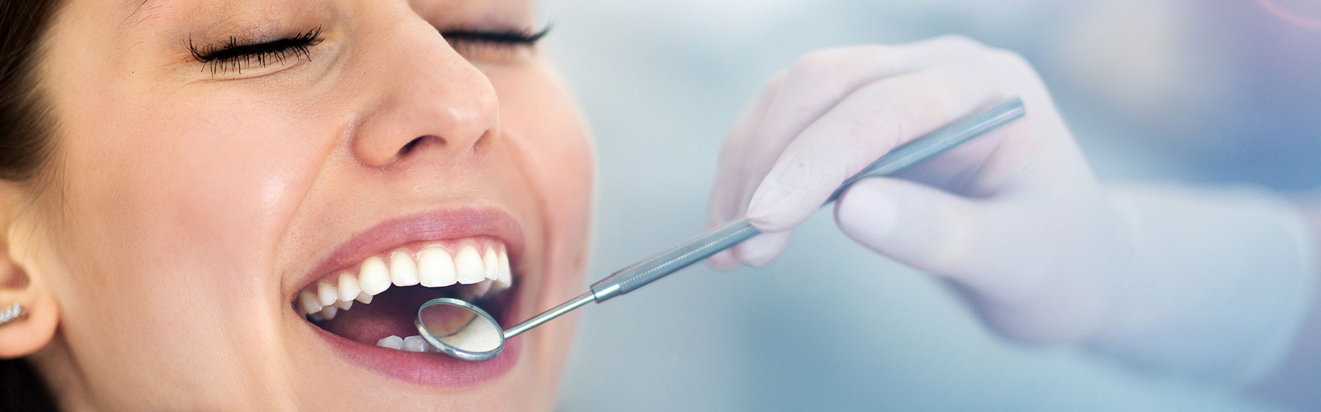 Woman is having preventive care at dental